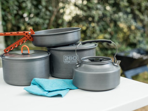 Camping saucepans review: Outdoor Gear 4-person cook set