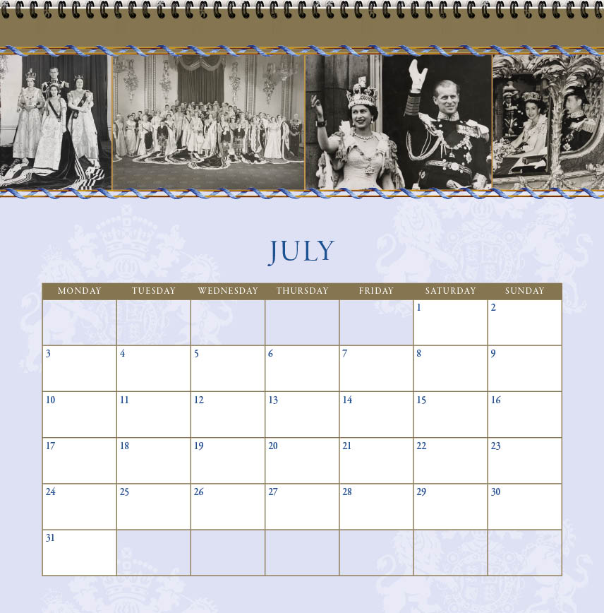 Royal Wall Calendar Design