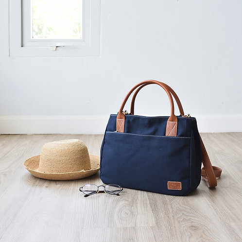 2 WAY TOTE - NAVY BLUE