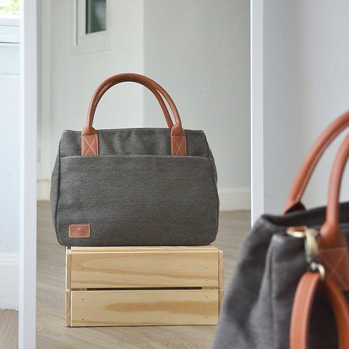 2 WAY TOTE - SMOKE BROWN