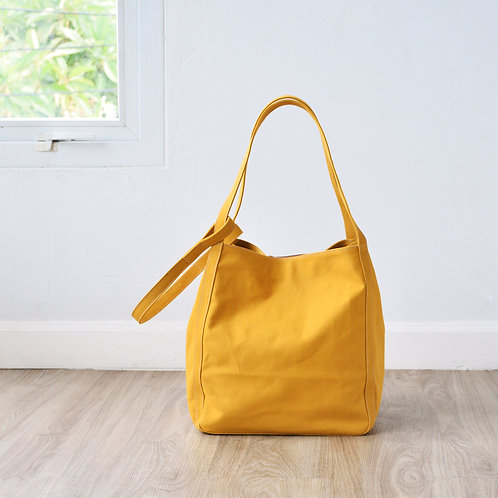 UP STRAP TOTE - MUSTARD