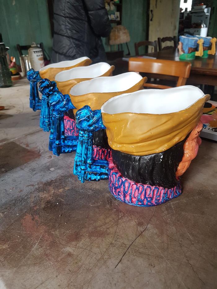 Painted breakaway vases