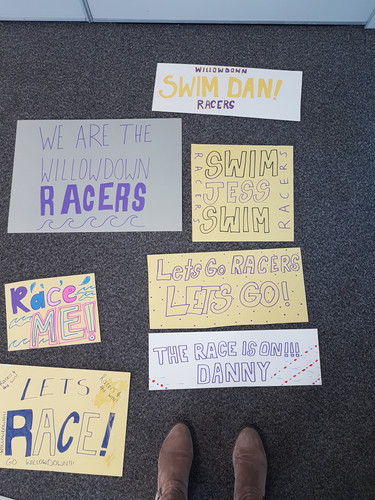 Posters for swimming comp