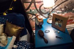 Dressed Bedside Table