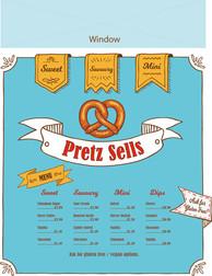 Pretzel stand front I designed using Adobe Illustrator
