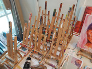 Easels made to look worn