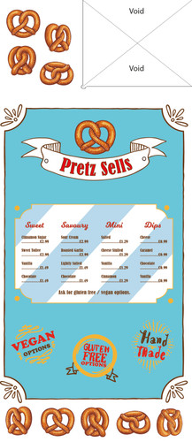 Pretzel stand side I designed using Adobe Illustrator