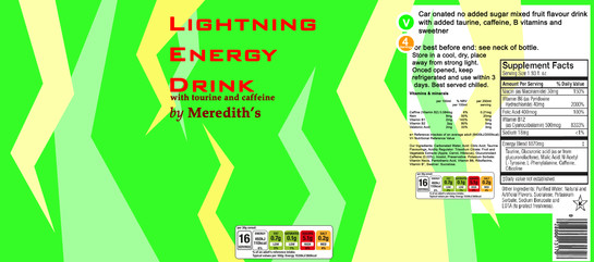 Energy Drink Label - Photoshop