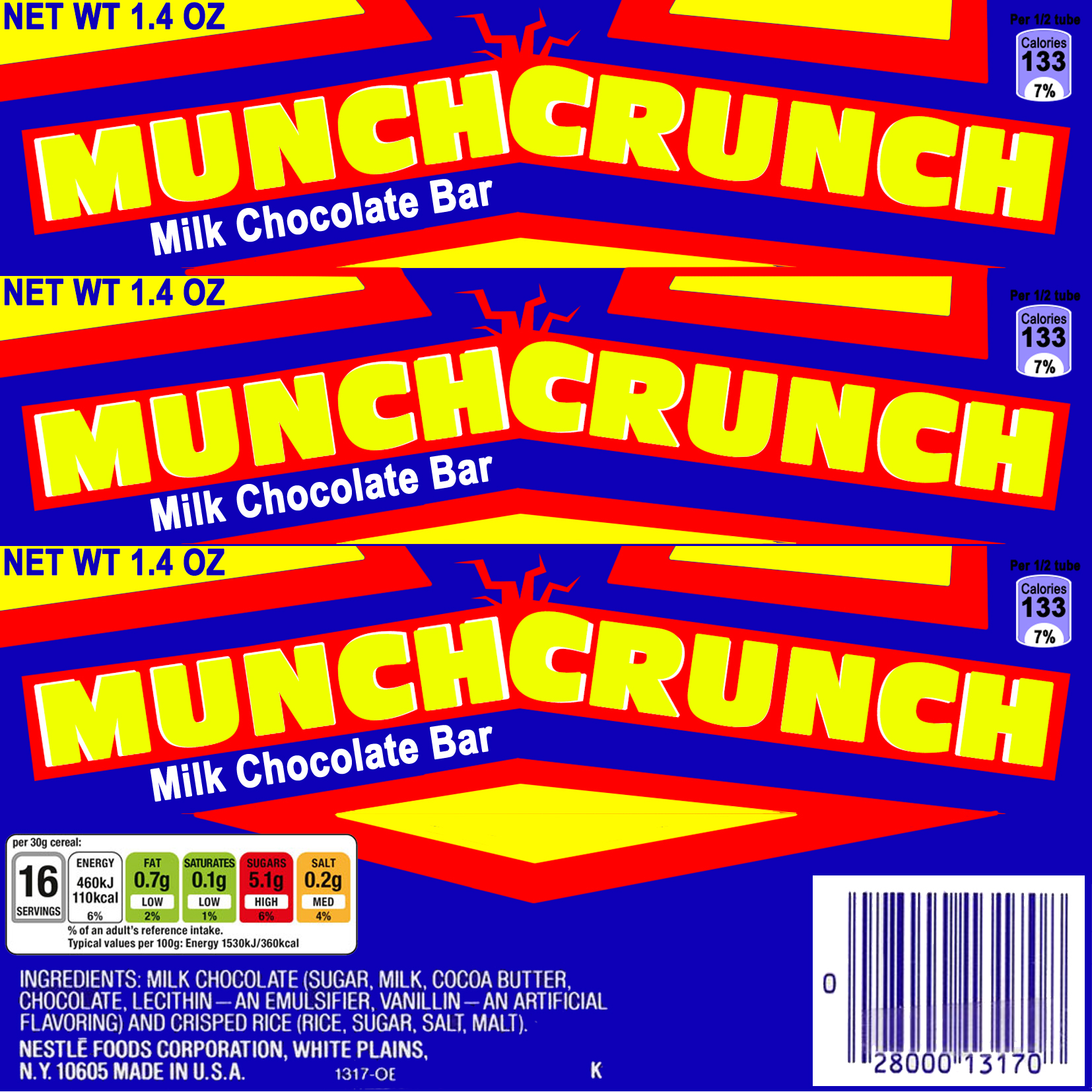 chocolate label
