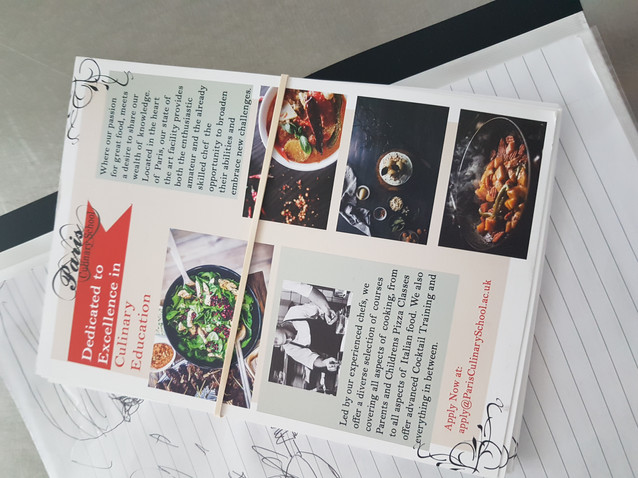 Cooking School Leaflet - Photoshop