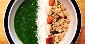 Zelená floridská smoothie miska