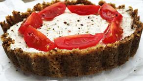 Slaný paradajkový raw-pie
