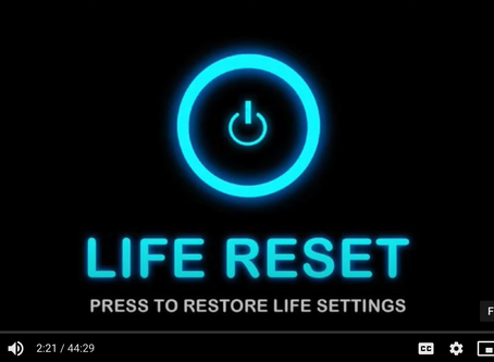 "Podcast: How to Push the ""RESET"" button on Your Life."