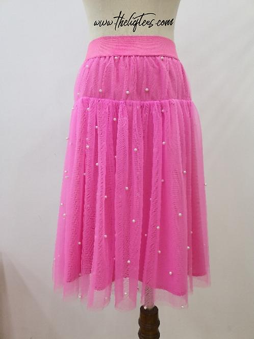 Pearls R Always Appropriate Skirt - Pink