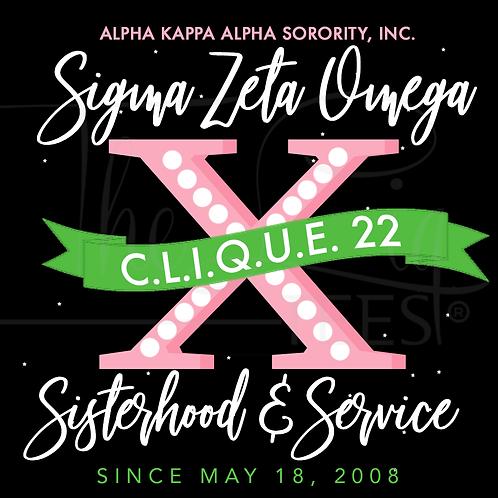 Sigma Zeta Omega Custom Anniversary