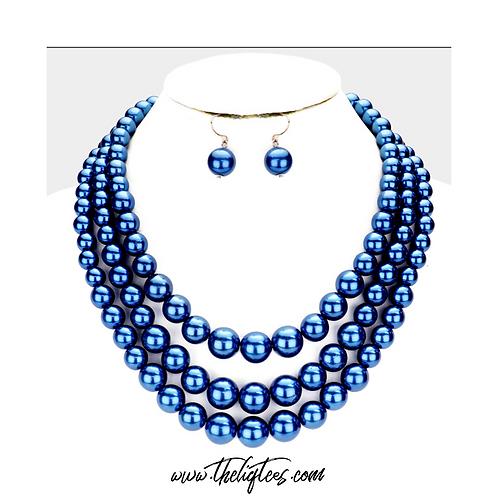 Triple Strand Royal Pearls