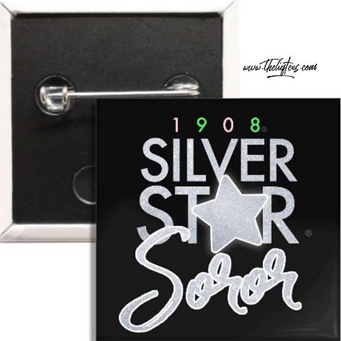 Silver Star Soror Button