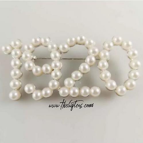 Zeta Pearl Lapel Pin