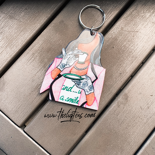 """""""And With A Smile"""" SWTS Collabo Keychain"""