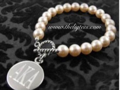 Pearl Toggle AKA Engraved Bracelet