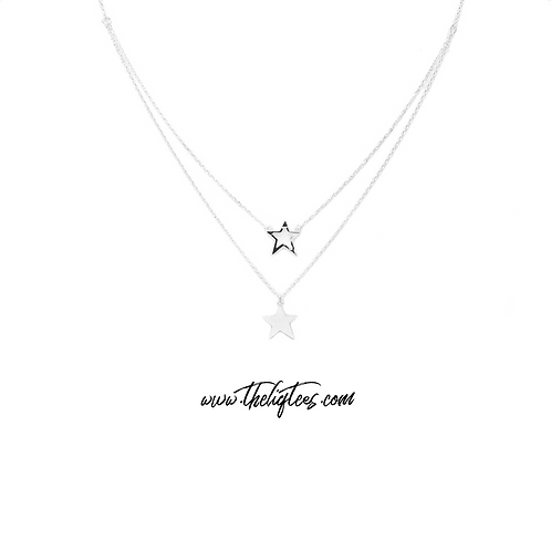 Silver Star Double Necklace II