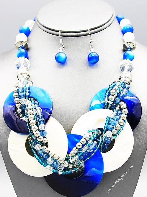 Blue. White. Wakanda Necklace