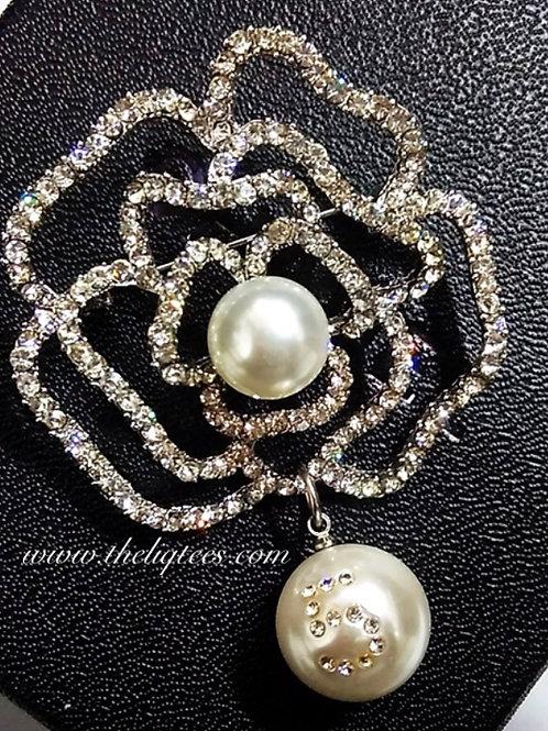 """Rose Pearl """"5"""" Pearl Brooch"""
