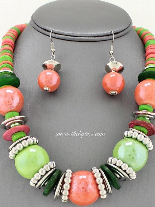 Boho Chic Pink 'n Green
