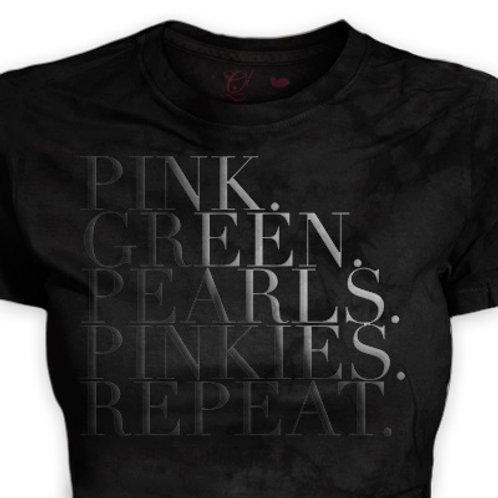 Pink Green Pearls Pinkies...