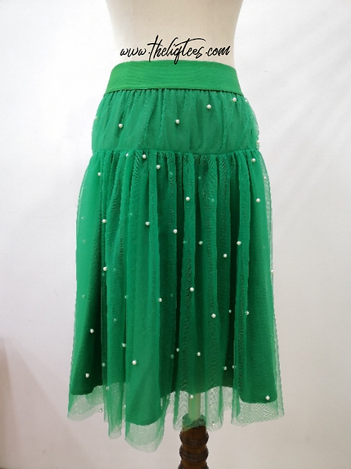 Pearls R Always Appropriate Skirt - Green