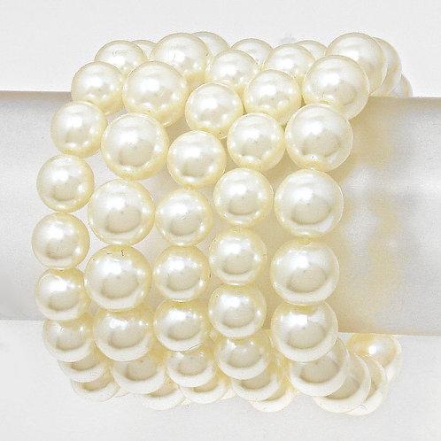 Multi-Strand Stretch Pearl Bracelet