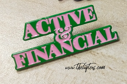 Active & Financial Lapel Pin