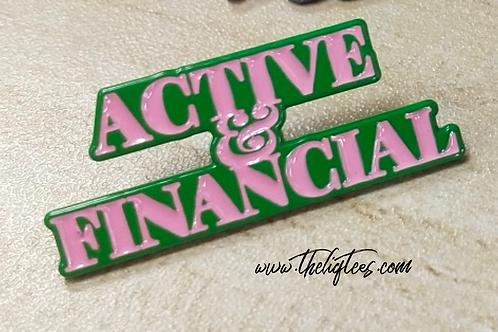Active & Financial Lapel Pin