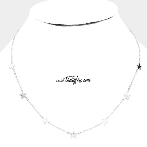 Silver Star Floating Necklace