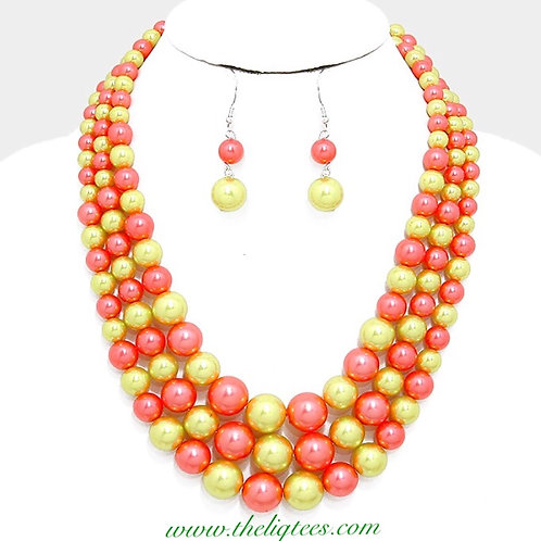 P & G Alternating Gumball Necklace
