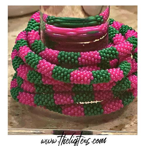 PG Glass Bead Bracelet