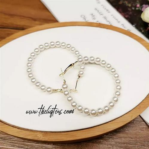 Hoop de Hoop Pearl Earrings