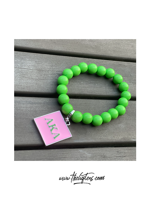 Monogram Green Bead Bracelet REMIXED