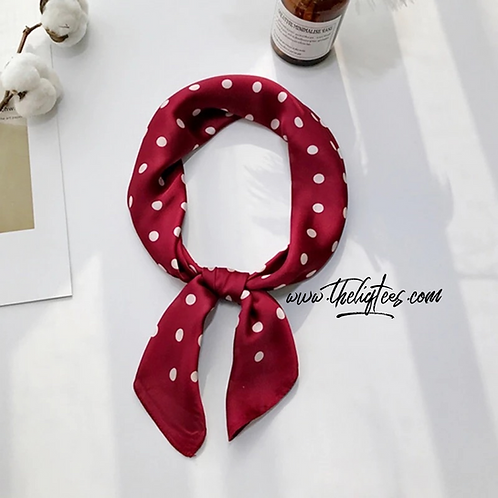 Red & White Polka Dot Scarf