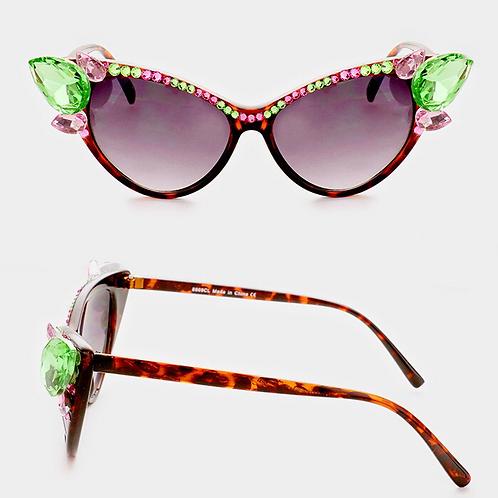 Pink & Green Sunglasses
