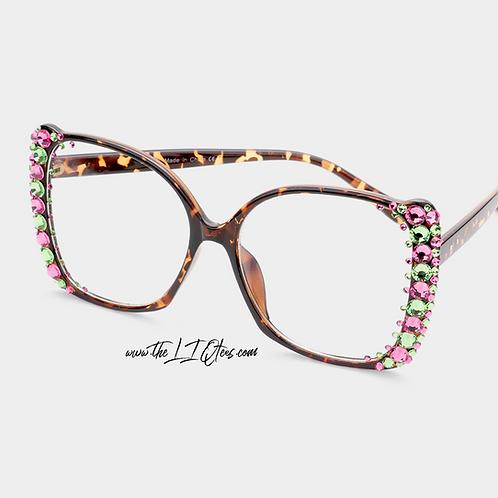 "Leopard Oversized ""Faux"" Glasses"