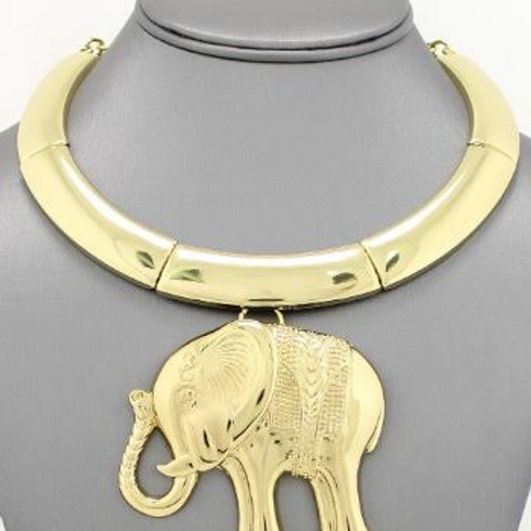 Golden Elephant Necklace Set