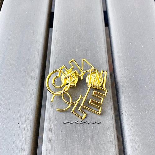 Popular Brand Artsy Lapel Pin