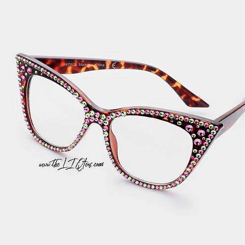 "Oversized Cateye ""Faux"" Glasses"