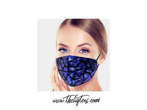 Sequin Mask - Royal Blue