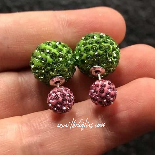 Glitzy Rhinestone Two-Faced Earrings