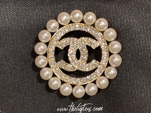 Circle Pearlie Pin
