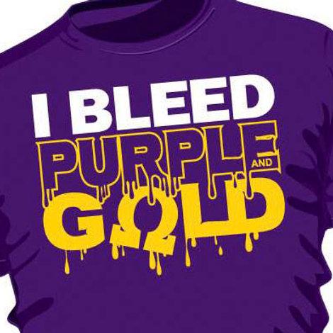 I Bleed Purple & Gold