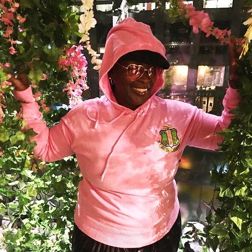 Nuri Pink Shield Hoodie