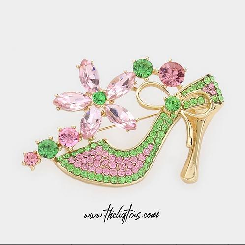 Shoes & Pretty Girl Brooch